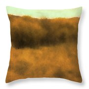 Wild And Golden Throw Pillow by David King