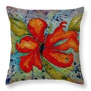 Wild Iris Throw Pillow