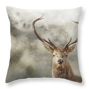 Wild Nature - Stag Throw Pillow