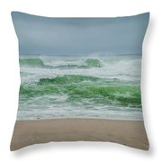 Wild Waves Throw Pillow by Judy Hall-Folde