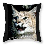 Wildcats Mascot 2 Throw Pillow