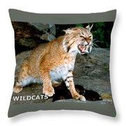 Wildcats Mascot 3 Throw Pillow