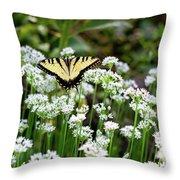 Wildflower Butterfly Throw Pillow