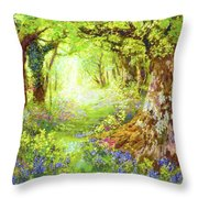 Wildflower Delight Throw Pillow