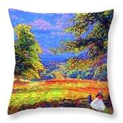 Wildflower Fields Throw Pillow