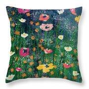 Wildflowers 2- Art By Linda Woods Throw Pillow