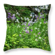 Wildflowers On Green's Hills Throw Pillow