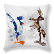 Wile E. Coyote And The Road Runner Throw Pillow
