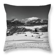 Wilson Mesa Winter Portrait Throw Pillow