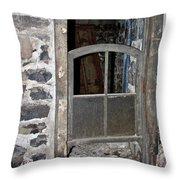 Window Below Throw Pillow by Ann E Robson
