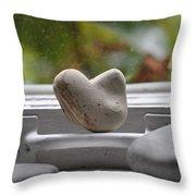 Window Hearts 2 Throw Pillow