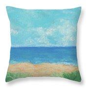 Windy Day At Lowdermilk Beach Throw Pillow