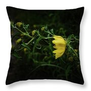 Windy Weeds Throw Pillow