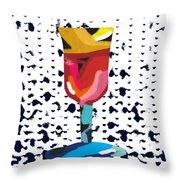 Wine And Matzo- Art By Linda Woods Throw Pillow