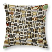 Wine Corks At An Angle Abstract Throw Pillow
