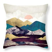 Wine Lake Throw Pillow
