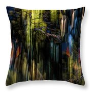 Wings Flying Out Of Time Throw Pillow