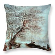 Winter Landscape Throw Pillow