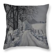 Winter Lane Throw Pillow