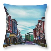 Winter Morning - Park City, Utah Throw Pillow
