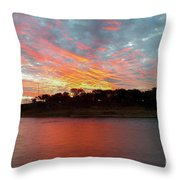 Winter Morning Sky Throw Pillow