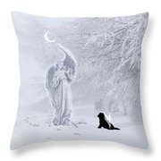 Winter Solstice Holiday Card Throw Pillow
