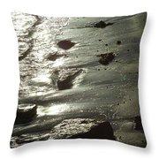 Winter Sun On The Tide Throw Pillow