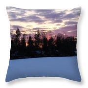 Winter Sunsets Throw Pillow