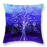 Winter Tree One Throw Pillow