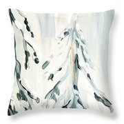 Winter Trees #4 Throw Pillow by Maria Langgle
