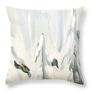 Winter Trees And Sky Throw Pillow