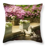 Winterthur Spring Pond Throw Pillow