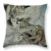Witches, 1907 Throw Pillow
