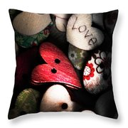 With Sentiment In The Sewing Box Throw Pillow
