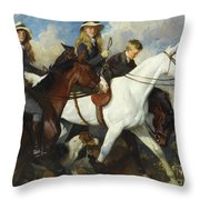 With The York And Ainsty, The Children Of Mr Edward Lycett Green Throw Pillow