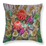 Withering Beauty Throw Pillow