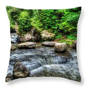 Wolf Creek Falls, New River Gorge, West Virginia Throw Pillow