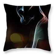 Wolf Cub - Smoke Photography Throw Pillow