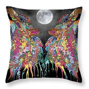 Wolf Song Throw Pillow by Mark Taylor