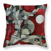 Woman Man Woman Throw Pillow by Mark Jordan