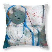 Woman On Her Own Throw Pillow