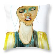 Woman On Trial Throw Pillow