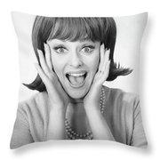 Woman Shouting In Studio B W Portrait Fleece Blanket For Sale By George Marks