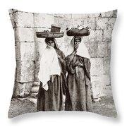 Women From Siloan In Jerusalem Throw Pillow