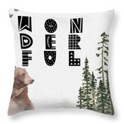 Wonderful Inspirational Poster Throw Pillow by Celestial Images