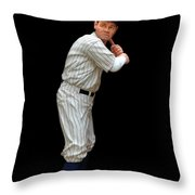 Wood Carving - Babe Ruth 001 Throw Pillow