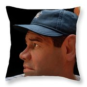 Wood Carving - Babe Ruth 002 Profile Throw Pillow