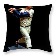 Wood Carving - Ted Williams 001 Black Background Throw Pillow