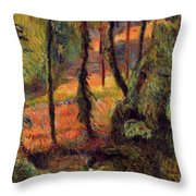 Wooded Path 1884 Throw Pillow