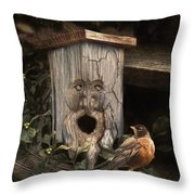 Woodsprite Throw Pillow